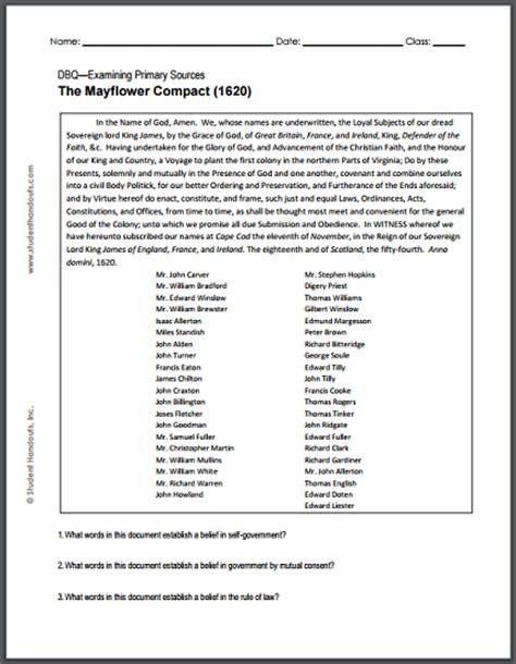 Mayflower Compact Document