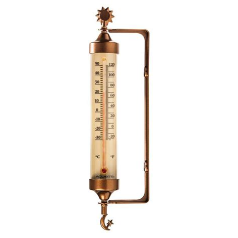 Decorative Outdoor Thermometer by Shop Acurite Wireless Indoor Outdoor Copper Thermometer At Lowes