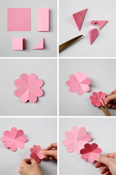 How To Make Easy Paper Flowers For Cards - diy paper flower wreath gathering