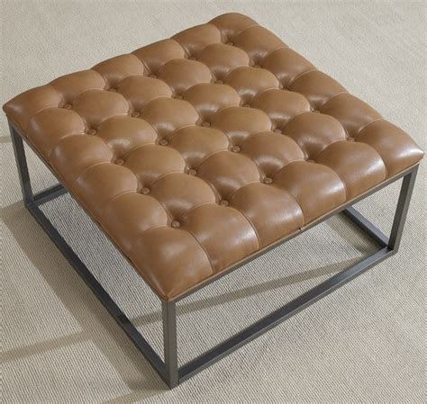 unique and creative tufted leather ottoman coffee table