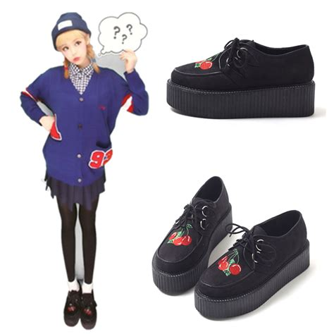 harajuku shoes japanese harajuku cherry platform shoes 183 kawaii