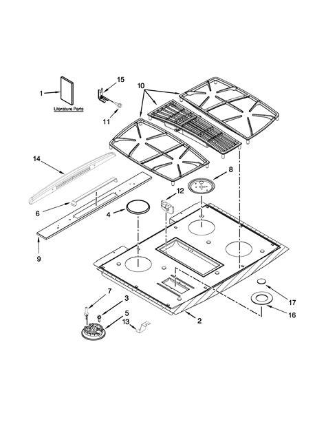 jenn air oven parts diagram cooktop parts diagram parts list for model jgs9900cdb00