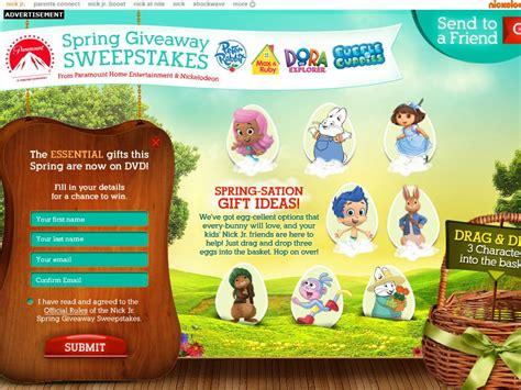 Nickelodeon Cruise Sweepstakes - nick jr spring giveaways sweepstakes
