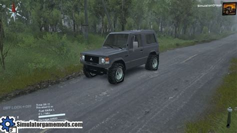 Gts Pajero mitsubishi pajero i car spintires mod simulator