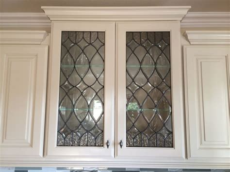 leaded glass for kitchen cabinets 1000 ideas about glass kitchen cabinets on