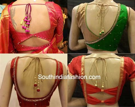 design pattern blouse back neck saree blouse back neck patterns south india fashion
