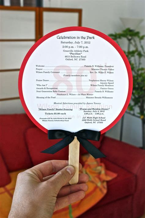 family reunion program template family program on fans it s a family thing