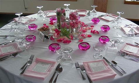 Dinner table centerpieces, wedding head table decorations