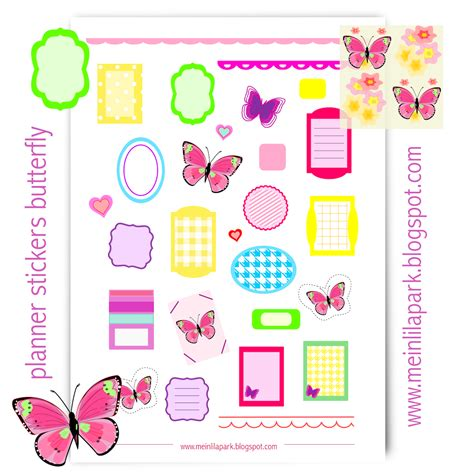 printable butterfly stickers free printable planner stickers butterfly ausdruckbare