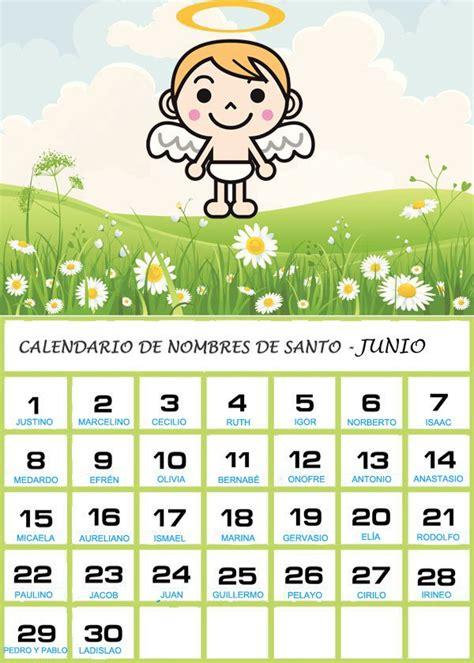 Calendario Mexicano Con Santos Calendario De Los Nombres De Santos De Junio