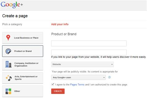 design google plus page google pages how to sign up and create your own page for