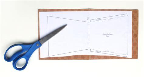 flower pot pocket card template s day flower pot card artzycreations