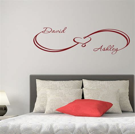 home wall decor stickers unique custom wall decals infinity sign family names