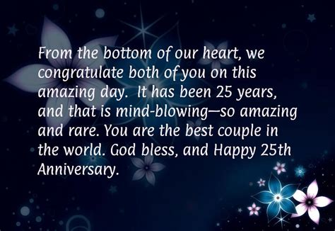 25th Wedding Anniversary Quotes To by 25th Wedding Anniversary Quotes Happy Quotesgram