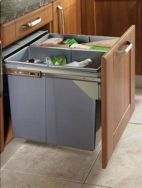 Kitchen Recycling Bins For Cabinets Pull Out Kitchen Waste Recycle Soft Bin 400mm Front Fixing Cabinets Ebay