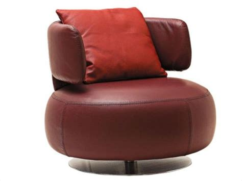 Swivel Leather Armchair by Brown Swivel Leather Armchair