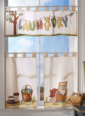 Collections Etc Find Unique Online Gifts At Laundry Room Curtains For Sale