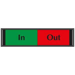 Office Sign In In Out Sliding Sign For Doors G6db Io