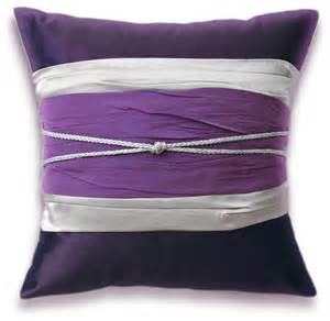 Purple And Pillows by Purple Silver Pillow 16 In Rope Decoration Josie Design