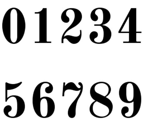 printable bold numbers image gallery number fonts to print