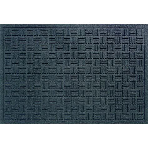 Thin Rubber Door Mats by Trafficmaster Black 24 In X 36 In Recycled Rubber