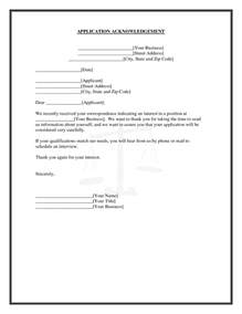 best photos of acknowledgement receipt letter template for