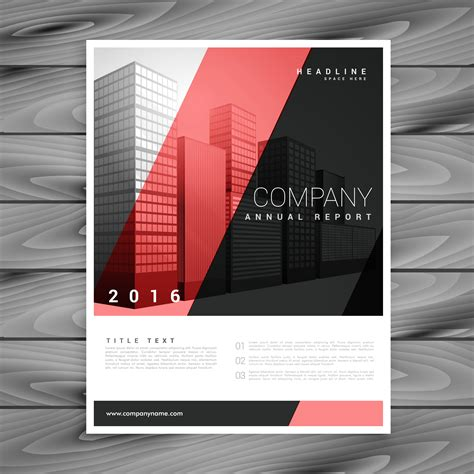 Red And Black Modern Brochure Flyer Design Template Download Free Vector Art Stock Graphics Modern Flyer Template