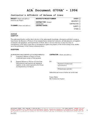 aia a305 template aia a105 blank form