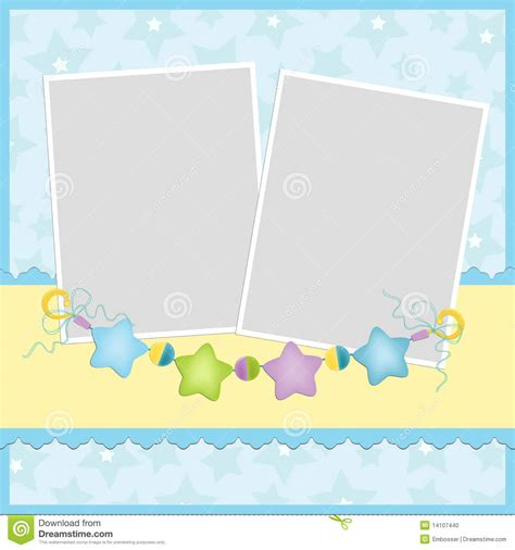 template for baby s photo album stock photo image 14107440