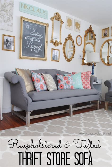 how to reupholster a vintage sofa how to update your home d 233 cor with a reconditioned sofa