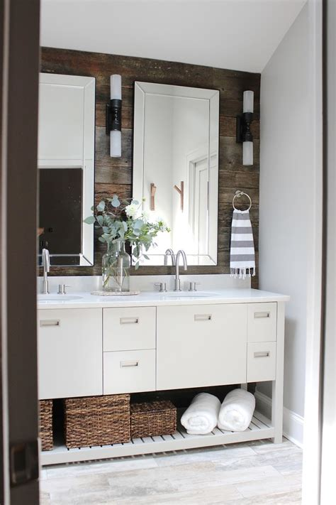 barn board bathroom vanity why and how to use reclaimed barn boards in the bathroom