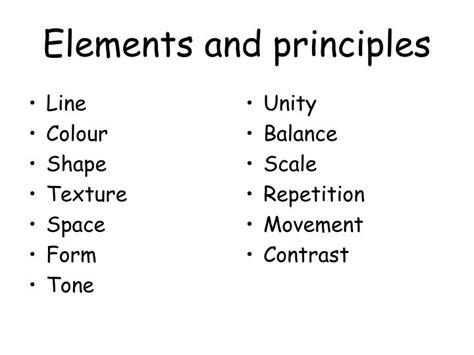 elements and principles ppt video online download ppt elements and principles powerpoint presentation id