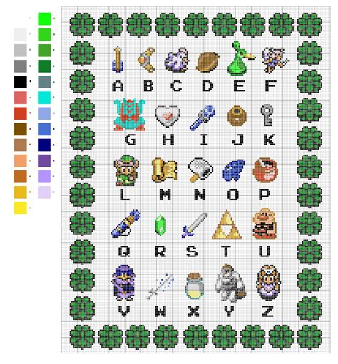 zelda cross stitch pattern z is for zelda cross stitch sprite stitch