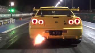 Drag Racing Nissan Skyline Gtr R34 Tuning Nitto 10 1 154 Mph Nissan Skyline R34 Test N Tune