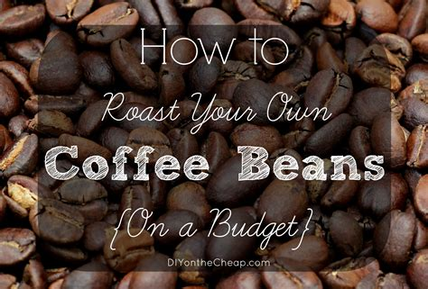 Coffee Roasting how to roast coffee beans on a budget erin spain
