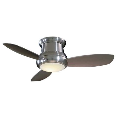 44 inch hugger ceiling fan with three blades and light kit