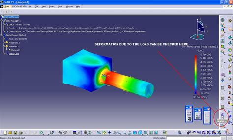 tutorial structure design catia tutorial using simulation fem analysis in catia v5 grabcad