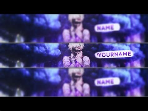 free anime youtube banner template 40 photoshop