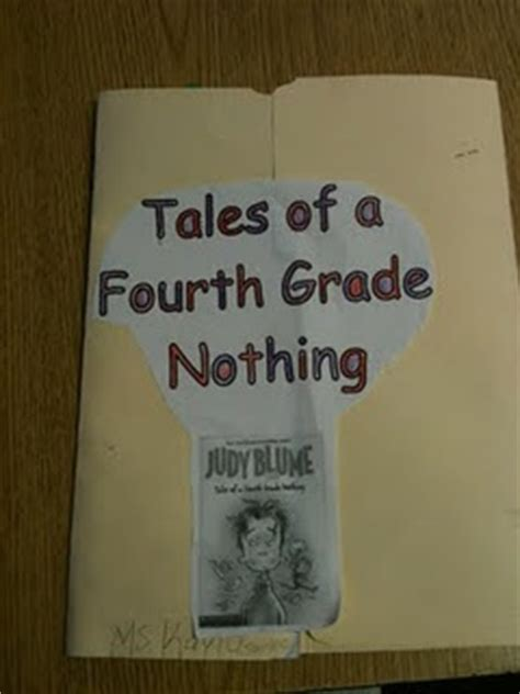 tales of a fourth grade nothing book report tales of a fourth grade nothing lapbook creative book
