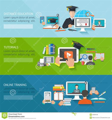 online education banner stock vector image 50566106
