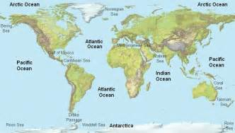 World Map Oceans by Gallery For Gt Arctic Ocean World Map