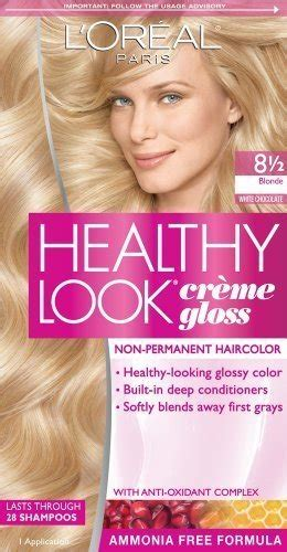 white chocolate hair color 3 pk l oreal healthy look creme gloss