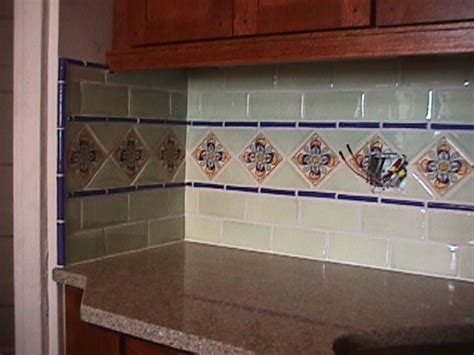 mexican tile backsplash house style interior