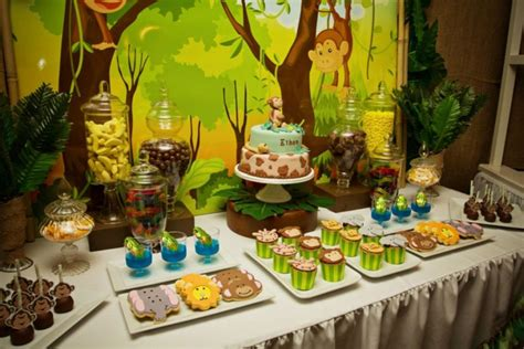 Jungle Theme Baby Shower by 31 Jungle Theme Baby Shower Table Decoration Ideas