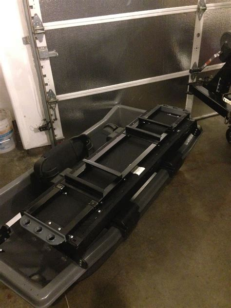 otter bench seat otter cabin xt pro bench mod ice fishing forum in