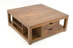 table basse palissandre massif 2 tiroirs