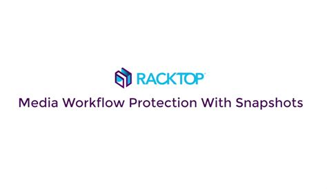 media workflow racktop systems data storage data management cloud and vdi