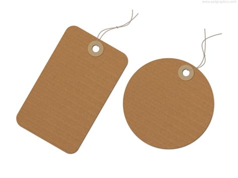 How To Make Paper Tags - brown recycled paper tag psd psdgraphics