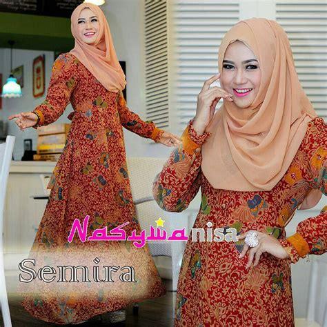 Shakira Syar I Marun 1 semira 1 marun baju muslim gamis modern