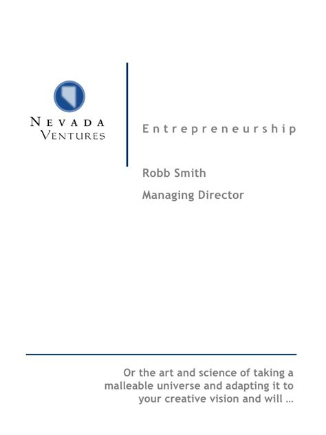 Mba Unr by Entrepreneurship Class Unr Mba Program